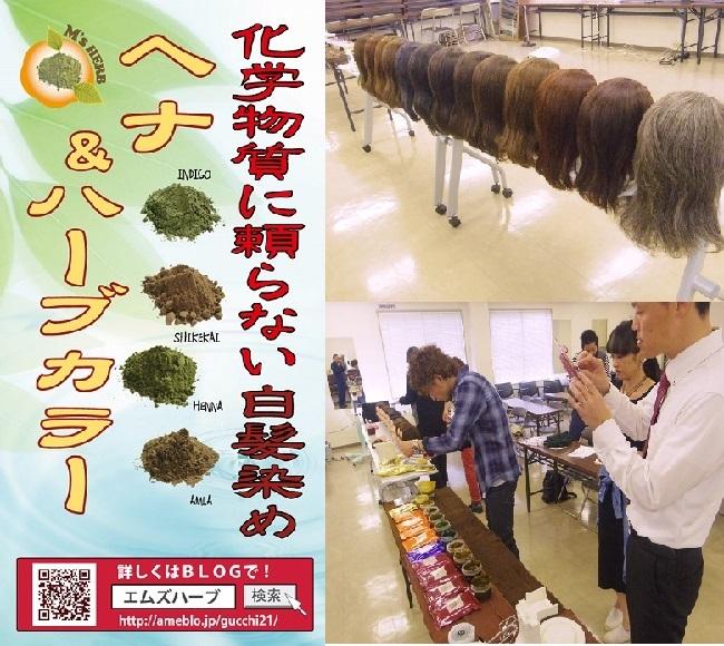 ヘナ&ハーブカラー講習会 in 大阪