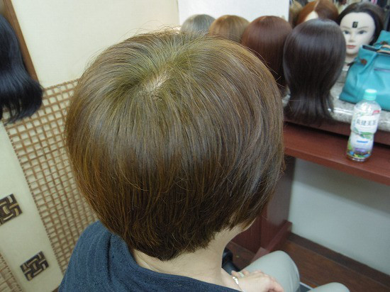 白髪率50%超へ二度染め120分