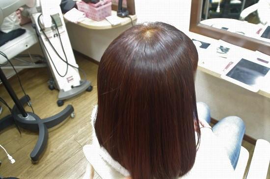 黒光り髪を明るく修正HQヘナ(熟成)