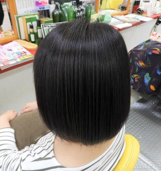白髪率10%未満ストレート毛へ初HQヘナ